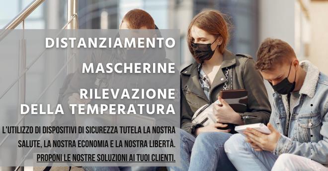 Distanziamento, mascherine e rilevazione della temperatura