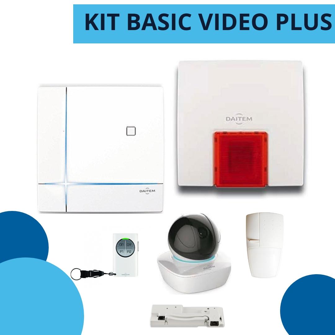 kit basic video plus daitem - allarme senza fili