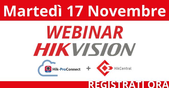 Webinar Hikvision: Registrati ora!