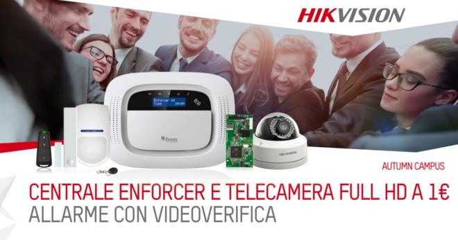 Promo allarme con videoverifica enforcer di Hikvision