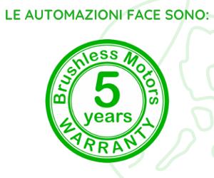 Face Automation: 5 anni di garanzia